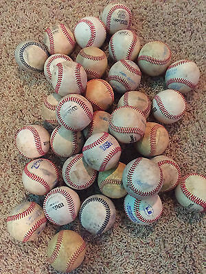 Lot of 33 ALL LEATHER league used practice baseballs in very nice condition