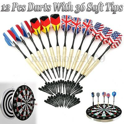 12Pcs Of Soft Tip Darts With 36 Extra Tips Professional For Electronic Dartboard