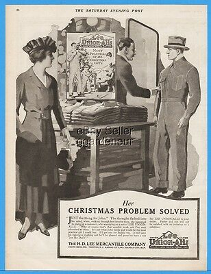1918 HD Lee Mercantile Union Alls Most Practical Christmas Gift Problem Solve Ad