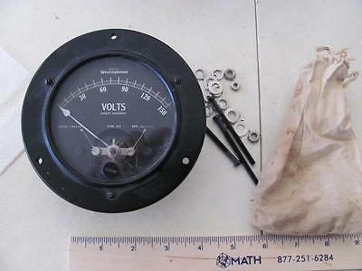 Westinghouse 150 volt DC panel meter style 1101422 Type DX  NIB