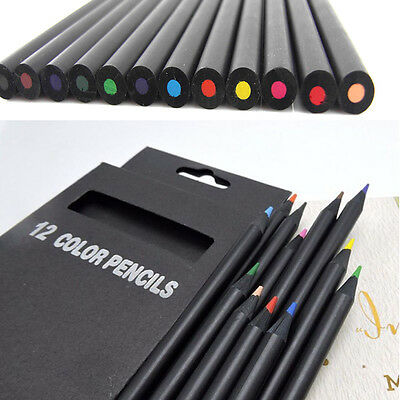 12Pcs Colorful Sketch Drawing Charcoal Pencil For Artist Sketching Drawing Set