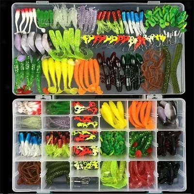 316pcs Soft Fishing Lure Bait & Jig Head Hook Set for Saltwater/Freshwater