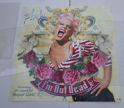 """X      PINK--CONCERT PROMOTIONAL POSTER pretty 35 x 35"""""""
