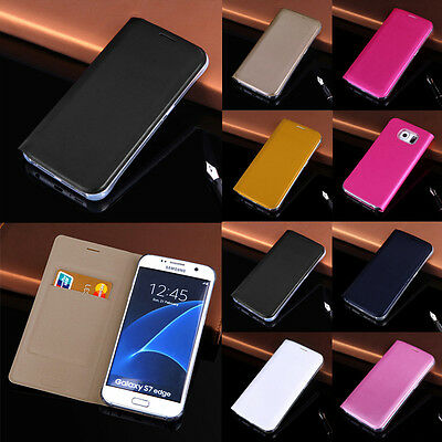 Flip Leather Wallet Case Cover For Samsung Galaxy S7 Edge S8 Plus