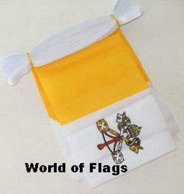 VATICAN CITY BUNTING Rome Papal Flag 9m 30 Fabric Party Italy Italian 9 Metres
