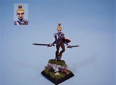 Confrontation painted miniature Griffin Female Duelist