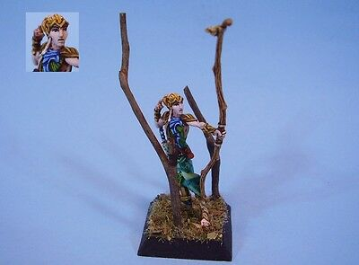 Confrontation painted miniature Elf Archer Hero