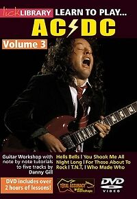 AC/DC LEARN TO PLAY Vol 3 Lick Library DVD