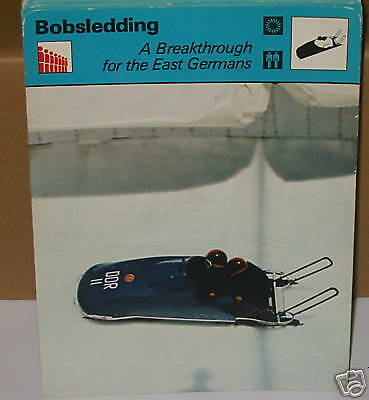 Bobsledding germans Olympicwinter sports Collector card