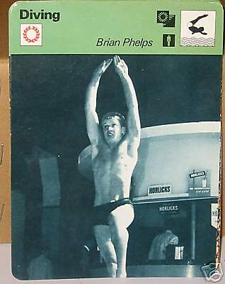 Brian Phelps diving Collector card