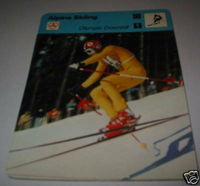 Olympic Downhill - Alpine skiing SC Collector card