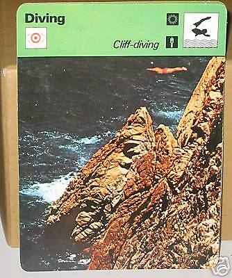 Cliff Diving Collector card