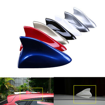 Car Auto Special With Radio Shark Fin Antenna Aerial FM/AM Signal Universal Blue