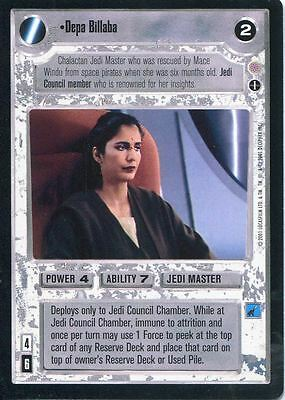 Star Wars CCG Coruscant Rare Depa Billaba