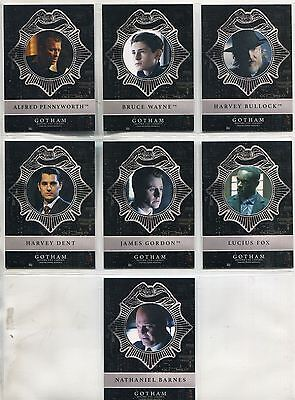 Gotham Season 2 Complete New Day Dark Knight Chase Card Set ND1-7
