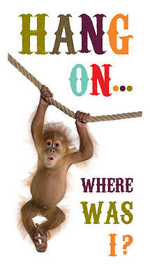 Slogans Hang On... Where Was I? Magnetic Bookmark - Gift Idea