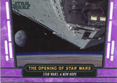 Star Wars 40th Anniversary Purple Base Card #21 The Opening of Star Wars