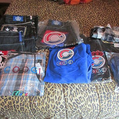 New~ Men's Old School 9 Lot Of Coogi Denim/ Cotton Shorts, Polo's. 90's, Sharp