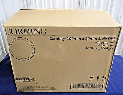 Case of 500 Corning 430591 Suspension Culture Dishes 100mm x 20mm EXP 5/18 NEW