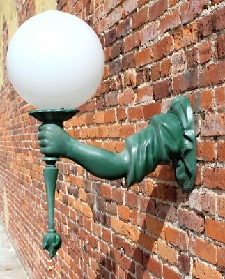 Statue of Liberty Arm Outdoor Wall Light Sconce Fixture Antique Torch Bearing