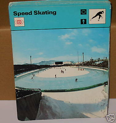 Speed Skating winter sports Collector card