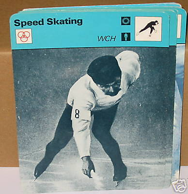 Speed skating WCH Mathisen winter sports Collector card