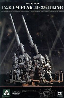 TAKOM #2023 WWII German 12,8cm Flak 40 Zwilling in 1:35