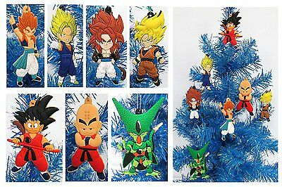 Dragon Ball Z Holiday Christmas Ornament Set - Unique Shatterproof Plastic by