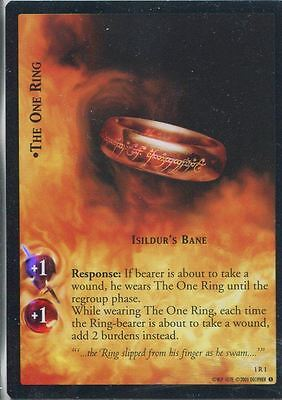 Lord Of The Rings CCG FotR Foil Card 1.R1 The One Ring Isildurs Bane