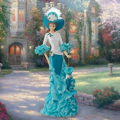 Walking With Wisdom Lady Figurine - Bradford The Proud Promenade Thomas Kinkade