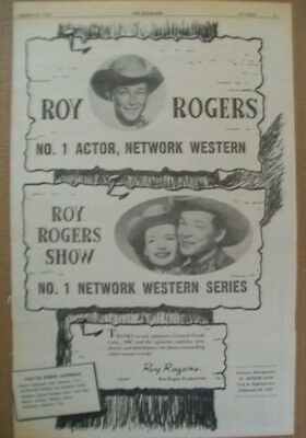 Roy Rogers Show 1955 Ad- no 1 actor & network western series General Foods NBC