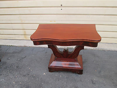 56292 Antique Empire mahogany Game table Stand
