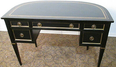 57866 Sligh-Lowry Demilune Black Desk with a Tooled Top
