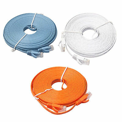Ethernet CAT6 Internet Network Flat Cord Cable Patch Lead RJ45 For PC Router Lot