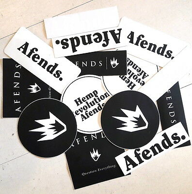 Afends Stickers 5 Pack Assorted Skate / Surf / Band / Tattoo decal Sticker