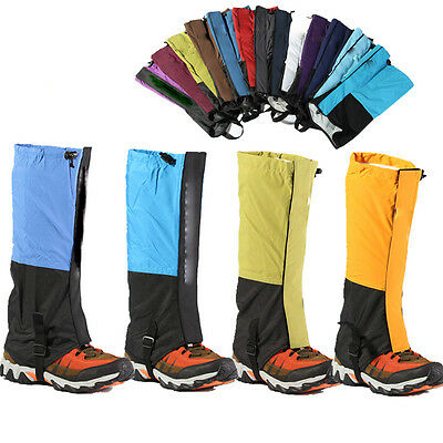 Waterproof Hiking Climbing Walking Boot Legging Trekking Gaiters 4Colors