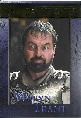 Game Of Thrones Season 3 Gold Parallel Base Card  90 Meryn Trant