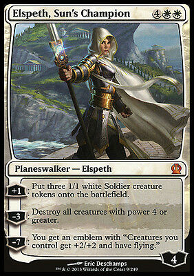 ELSPETH SUN'S CHAMPION NM mtg Theros White - Planeswalker Mythic
