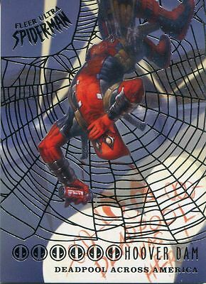 Spiderman Fleer Ultra 2017 Deadpool Across America Silver Web Chase Card DA5 Hoo
