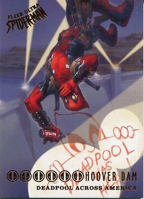 Spiderman Fleer Ultra 2017 Deadpool Across America Chase Card DA5 Hoover Dam