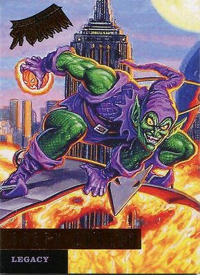 Spiderman Fleer Ultra 2017 Legacy Chase Card L4 Green Goblin