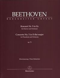 BEETHOVEN CONCERTO No 5 Op73 Eb Piano reduction