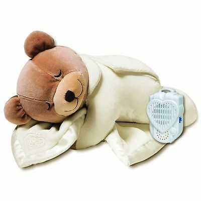 PL Cream Slumber Bear Lull Baby Comforter Soft Cot Toy Real Womb Sound Player