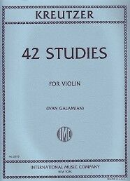 KREUTZER 42 STUDIES (Galamain) Violin