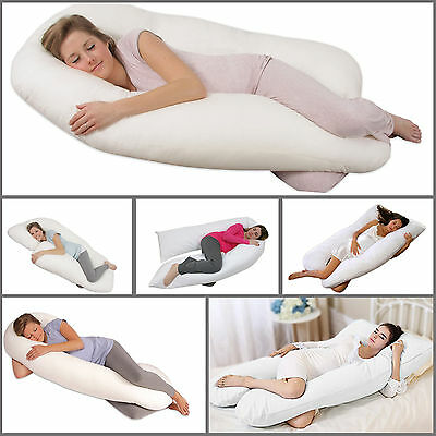 New U Shape Body & Back Support 12Ft Maternity Pregnancy Comfort Pillow