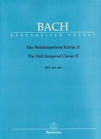 BACH WELL TEMPERED CLAVIER BooK 2 ed Durr Piano