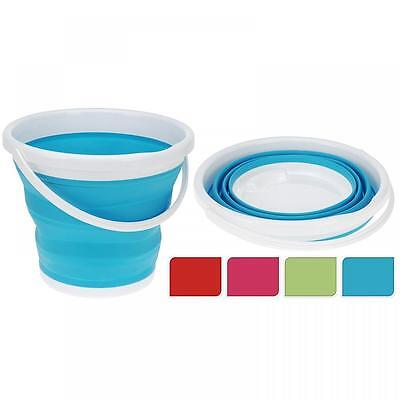 Collapsible Cleaning Bucket Silicone Hiking Camping Folding Washing Up Flat Bowl