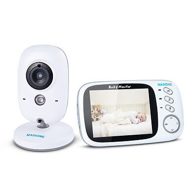 "3.2"" Digital Audio Video Baby Monitor Wireless Camera Remote Motion Night Vision"