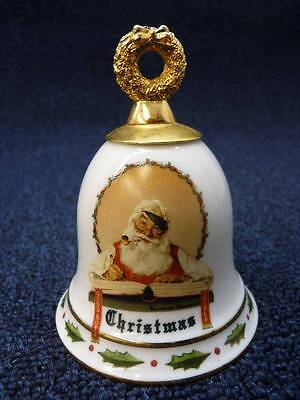 """Norman Rockwell """"Good Girls and Boys"""" Santa Collector's Bell (a3029)"""