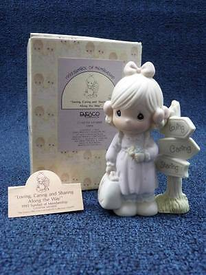 """1992 PRECIOUS MOMENTS FIGURINE """"Loving Caring Sharing Along the Way""""  (a1831)"""